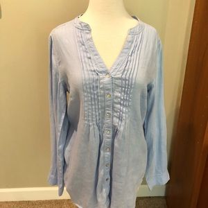 Malvin I love Linen Tunic Top M EUC
